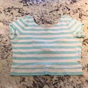 Hollister cotton shirt open back